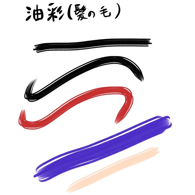 油彩(髪の毛)