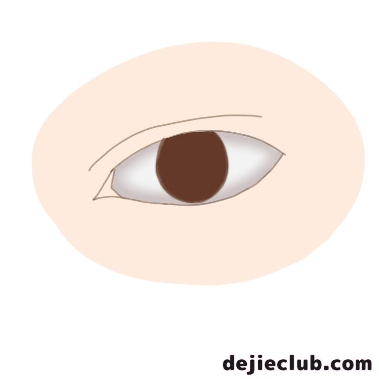 瞳のベース色を塗る